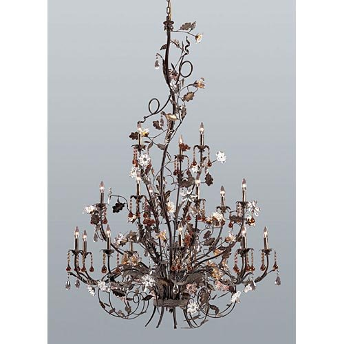 ELK Lighting Cristallo Fiore 18-Light Chandelier 85004 - 56W in. (Cristallo Fiore 18 Light)