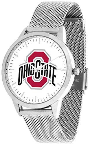 - Ohio State Buckeyes - Mesh Statement Watch - Silver Band