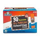 Elmer's Washable All-Purpose School Glue Sticks.24 oz, 30 Pack (E556)