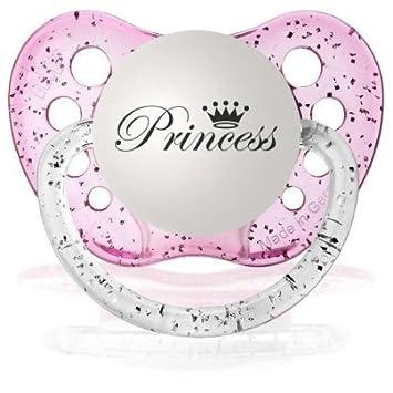 Amazon.com: Personalizable de bebé niña Princesa chupete ...