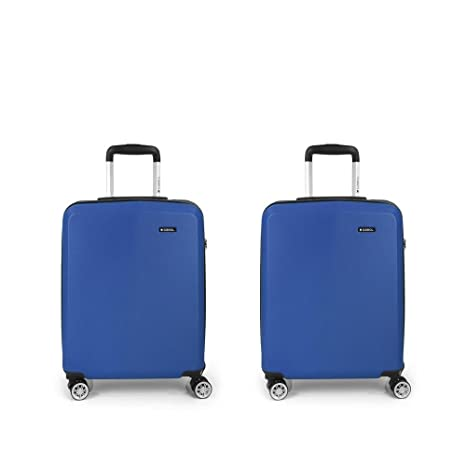 Set 2 Maletas cabina Gabol Mondrian Azul: Amazon.es: Equipaje