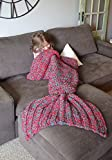 Hand Knit Mermaid Tail Blanket Crochet and Mermaid Blanket for adult, Super Soft Cotton Sleeping Bags