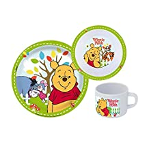 p:os 68934 Winnie The Pooh 3-Piece Breakfast Set with Plate Bowl and Mug by P:OS