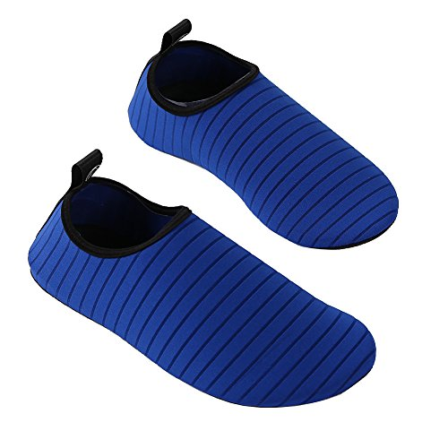 Mens Women Summer Water Shoes Footwear Quick Dry Aqua Sport Yoga Socks Barefoot Shoes House Slippers For Beach Swim Surf Fitness Driving Royal Blue xuuMB5