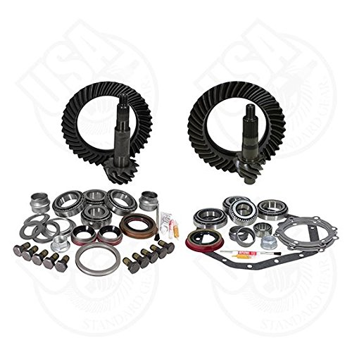 USA Standard Gear ZGK044 Ring And Pinion Set And Complete Install Kit Dana 60 Reverse Ratation And GM 14T 5.13 Gear Ratio Ring And Pinion Set And Complete Install Kit