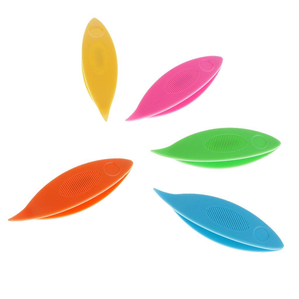 MagiDeal 12Pcs Plastic Tatting Shuttle Weaving Tool For Lace Making Handmade Craft