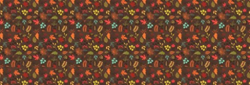 Fall Autumn Leaves Bed Runner Scarf Twin/Full/Queen/King Size by Unique Textile Printing (Image #2)