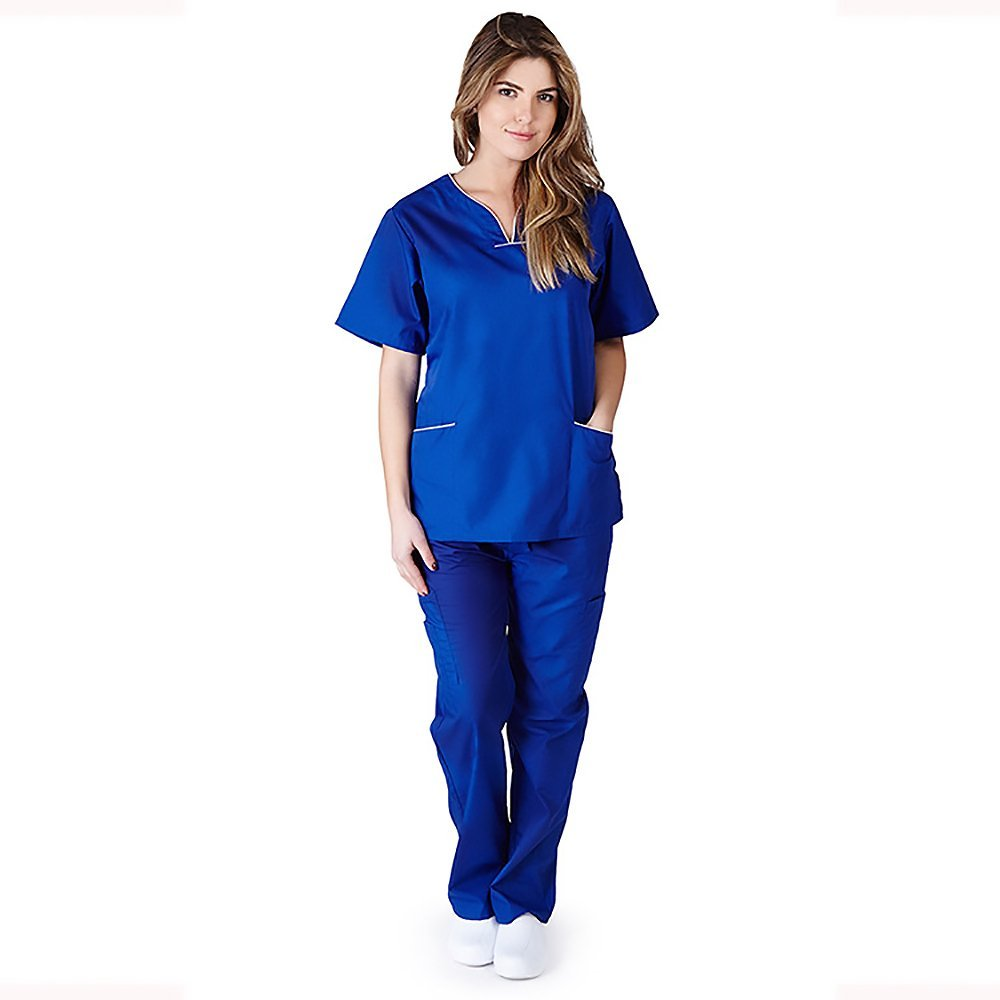 Natural Uniforms Womens Contrast Scallop Image 3