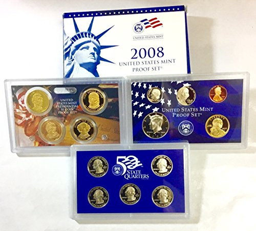 Collection Coin Proof (2008 S US Proof Set Superb Gem Uncirculated)