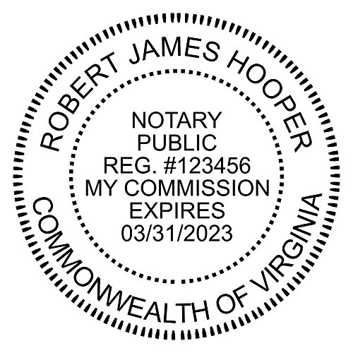 Virginia Notary Round Seal Stamp