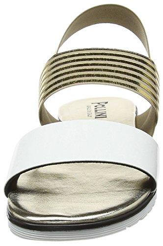 10a Multicolor Sandalias Sandal para de oro Mujer Abierto Bian W El Pollini Talón 87TgBxn