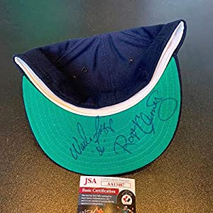 1986 Roger Clemens & Wade Boggs Signed Game Model Boston Red Sox Hat CAP COA JSA Certified Autographed Hats