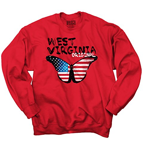 Virginia Classic Sweatshirt (Classic Teaze American - West Virginia Butterfly - Blend Sweatshirt)