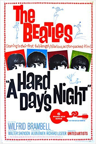 A HARD DAY'S NIGHT vintage movie poster THE BEATLES music JOHN LENNON 24X36 (reproduction, not an original)