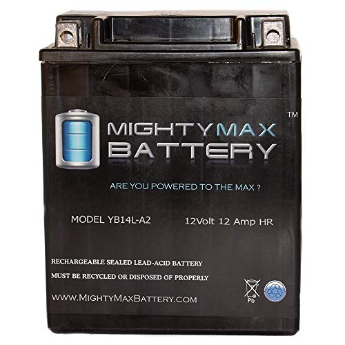 Arctic Tiger - Mighty Max Battery YB14L-A2 12V 12Ah Battery for Arctic Cat 640 Tiger Shark 1997-1999 Brand Product
