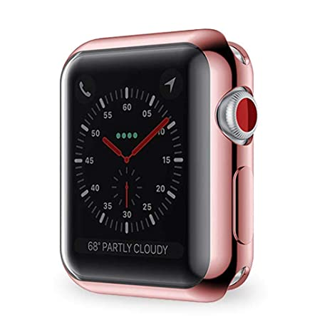 FOONEE para Apple Watch Series 2/3/4 Protector de Pantalla 38mm 42mm 40mm 44mm, Funda Protectora Suave y Completa para iWatch 4 para Apple Watch Serie ...