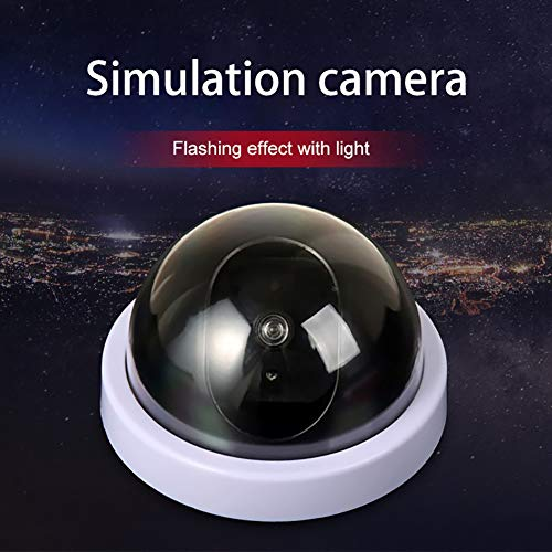 QLPP Dummy camer, Fake Security Camera, CCTV Fake Dome Camera,with Flashing Red LED Light,Installed in House, Shopping Mall, Restaurant,4pack by QLPP (Image #1)