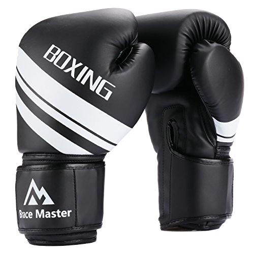 Brace Master Boxing Gloves for Men and Ladies, Punching Heavy Bag Training Gloves Leather Infused Gel for Sparring, Kickboxing, Preventing, Mitts, Muay Thai, Sports & Outdoor Play Games – DiZiSports Store
