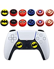 6Pcs Analog Thumb Grip Stick Cover, Dualsense Wireless Controllers Game Remote Joystick Cap, Fantastic Non-Slip Silicone Handle Protection Cover for PS5/PS4/Xbox one/360/Nintendo Switch PRO (A) (C)