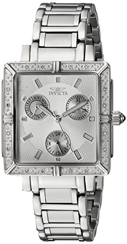 Invicta Women's 'Angel' Swiss Quartz Stainless Steel Dress Watch, Color:Silver-Toned (Model: INVICTA-5377)
