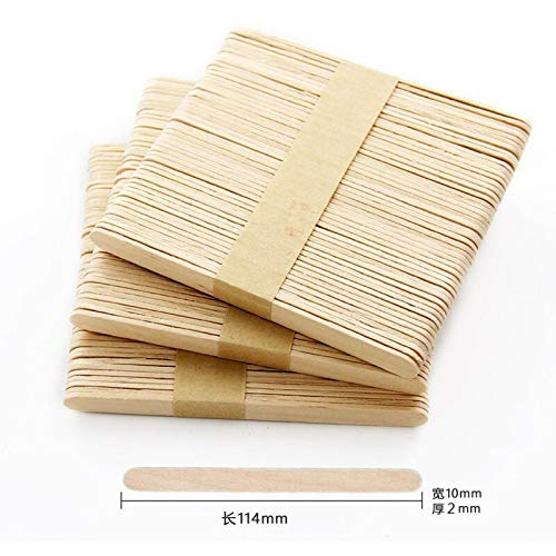 Moonnight Store 5000pcs/lot Colored Wooden Popsicle Sticks Natural Wood Ice Cream Sticks Kids DIY Hand Crafts Art Ice Cream Lolly Cake Tools (Wood) by Moonnight Store (Image #6)