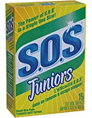 SOS Juniors Steel Wool Soap Pads, 15 Count (Pack of 1)