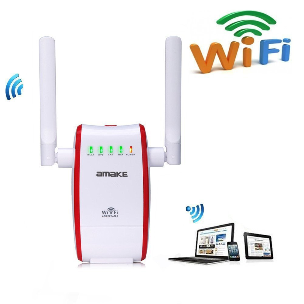 WiFi Router, AMAKE 300Mbps Wireless Range Extender Hotspot Access Point Amplifier Signal Booster Wireless-N Mini AP 802.11n/b/g High Speed Network Router/AP/Repeater Modes with WPS