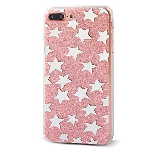 eDealMax Smartphone Plastique Accessoires étoiles Protecteur Shell Case Rose Pour 5,5 pouces iPhone 7 Plus