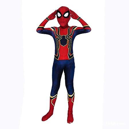 CVFDGETS Disfraz De Spiderman Cosplay para Niños Impresión Patrón ...