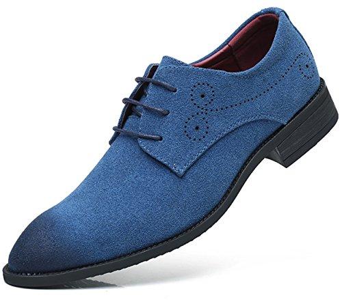 Bebete5858 casuale Blu 48 scamosciato Uomini Uomo Pelle Inghilterra Dimensione particolarmente stile Simple Extra Grande scarpe PU 1Hrq1FT