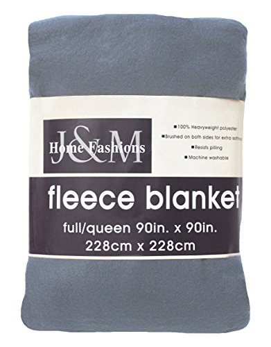 "Luxury Solid Fleece Blanket Throw, Full/Queen 90x90"", Ultra"