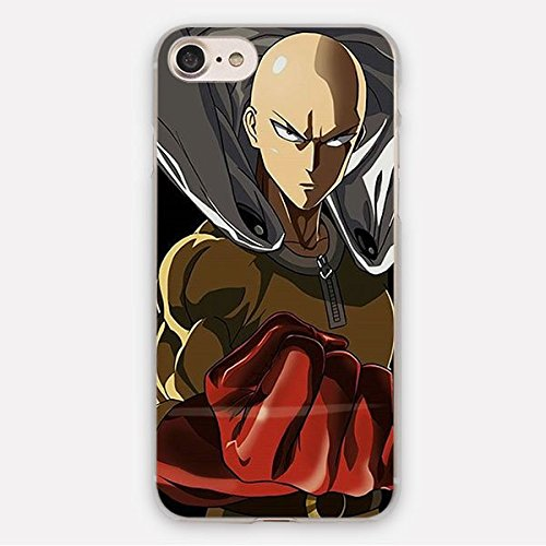 Gray One-Punch Man iPhone 6 Case Saitama Genos Japanese Superhero Action Comedy 6S Cover Hero Association Super Hero One Punch Supervillain Strange Monster Web Comic Manga Viral, Plastic by CH2