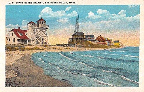 Salisbury Beach Massachusetts Coast Guard Station Antique Postcard - Md In Stores Salisbury