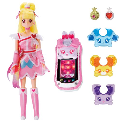 DokiDoki! Precure talking fashion doll Cure Heart & Lovely commune set by Bandai