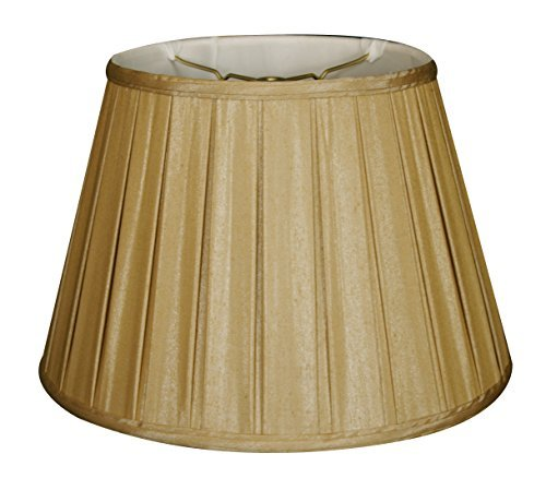 Royal Designs Empire Side Pleat Basic Lamp Shade, Antique Gold, 10.5 x 16 x 11