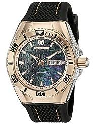 Technomarine Men's TM-115214 Cruise Monogram Analog Display Swiss Quartz Black Watch by TechnoMarine
