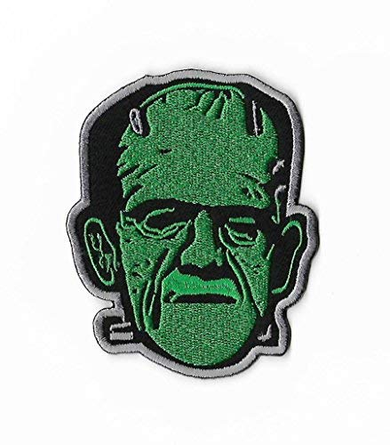 Frankenstein Patch Embroidered Iron / Sew on Badge DIY Applique Boris Karloff Classic Horror Movie Souvenir Costume Universal Monsters Retro -