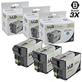 LD Remanufactured Replacements for T252XL120 T252 XL Set of 3 High Yield Black Ink Cartridges for use in Workforce WF 3620, 3640, 7110, 7610, and 7620 Printers