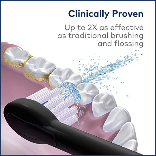 51dt p8i10L - Waterpik Electric Toothbrush & Water Flosser Combo in One - Sonic-Fusion Professional Flossing Toothbrush, SF-02 Black