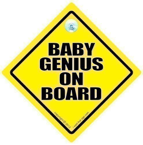 Bebé Genius diseño con texto en inglés de coche con ventosa ...