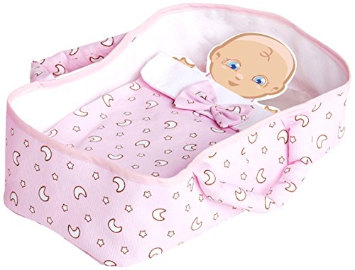 Pink Dolls Toys Moses Basket Fabric, 28x 15x 6(0122)