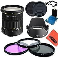 Sigma 17-50mm f/2.8 EX DC OS HSM FLD Standard Zoom Lens for Nikon DSLR Camera - Starter Kit