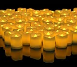 Banberry Designs LED Lighted Flickering Votive Style Flameless Candles Box of 144 - Wedding Decorations - Faux Candles - Flameless Candle Set – Centerpieces