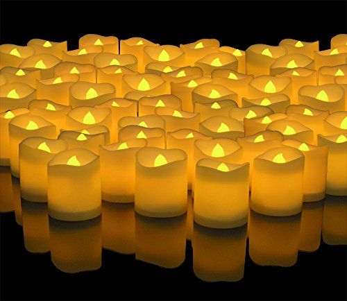 Banberry Designs LED Lighted Flickering Votive Style Flameless Candles - Banberry Designs - Box of 144 - Wedding Decorations - Faux Candles - Flameless Candle Set – Centerpieces by Banberry Designs