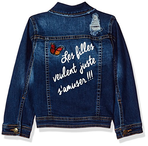 Limited Too Little Girls' Jean Jacket, Dark Blue, 7/8 by Limited Too (Image #2)