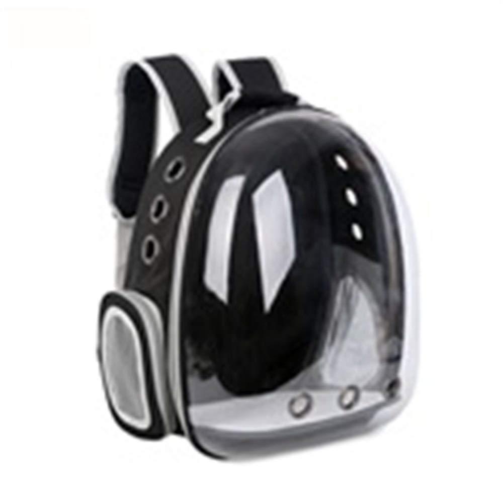 Black Pet Travel Bag Cat Bag Dog Bag Space Capsule The Dog's Bed Breathable Out Bag Portable Transparent Waterproof pet Backpack (color   Dark Green)