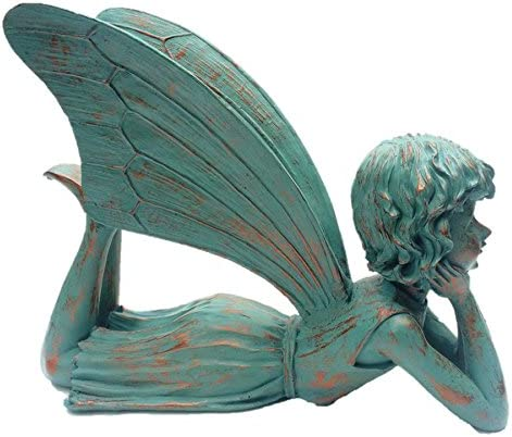 HomeStyles Dreamer Fairy 99010 Large Lying Statue Bronze Patina