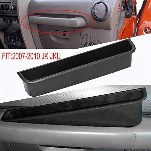 DEF Passenger Grab Handle Storage Box Storage Tray Organizer Black for Jeep Wrangler JL JLU 2/4 Door (2007-2010 JK JKU)