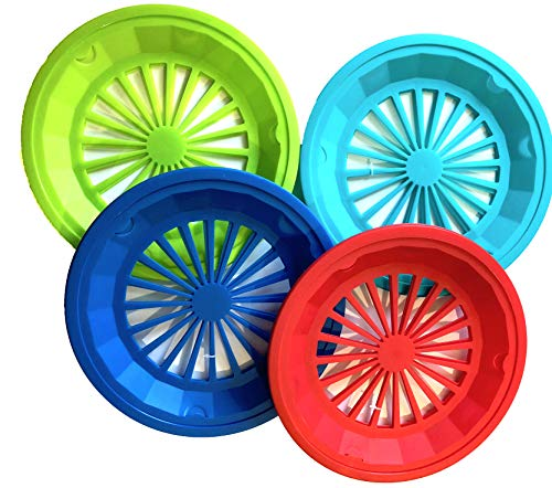 Set of 12 Paper Plate Holders- Assorted Colors