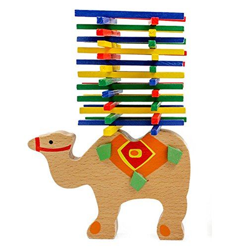 Wooden Puzzle Stacking Building Blocks Balance Board Table Game Camel Balancing Toy Educational Gift For Kids 40 pieces by Jollymap